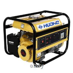 1200W Gas Powered Portable Gasoline Generator Engine For Jobsite RV Camping Home