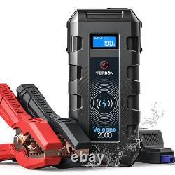 2000Amp 12V 10L Gas /8L Diesel UltraSafe Lithium Jump Starter Battery Booster US