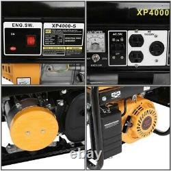 4000W Gas Powered Portable Gasoline Generator Engine For Jobsite RV Camping Home