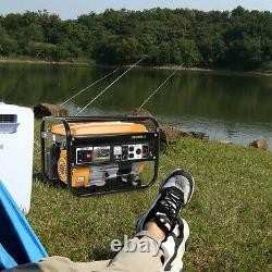 4000 Watt Portable Gas Powered Generator Engine For Jobsite RV Camping & Party