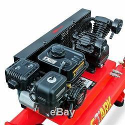 6.5HP Gas Powered Air Compressor Wheelbarrow Portable 10-Gallon Twin Tank 115PSI