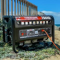 7000 Watt Generator Gas Power Portable Home Use Residential 120/220 Outlet Wheel
