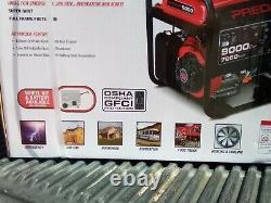 9000 Watt Max Electric Gas Fuel Portable Powered Generator similar HONDA EM6500S