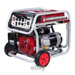 A-iPower 4,500-W 120/240-V Portable Gas Powered Generator with Wheel Kit Home RV