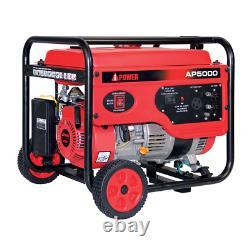 A-iPower 5000 Watt Gasoline Powered 7.5 HP Recoil Start Portable Generator AP
