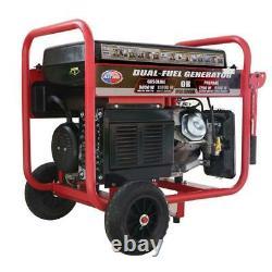 All Power 12000-W Portable Hybrid Dual Fuel Gas Powered Electric Start Generator