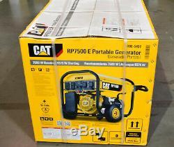 Cat Rp7500e Portable Gas Powered Generator 7500 Running Watts 490-6491