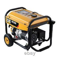 Caterpillar 490-6489 5500 Watts Gas Powered Portable Multi Use Generator, Yellow