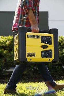 Champion 2,000-W Super Quiet Stackable Portable Gas Powered Inverter Generator