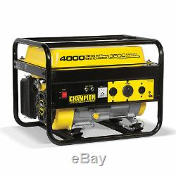 Champion 3500 Watt Portable Quiet Recoil Start Gas Powered Home & RV Generator