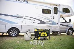 Champion 4,375-W Quiet Portable Hybrid Dual Fuel Gas Powered RV Ready Generator