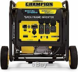 Champion 6,250-Watt Quiet Portable Hybrid Gas Powered Digital Inverter Generator