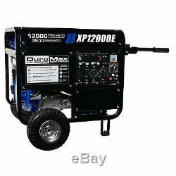 DuroMax 12,000-Watt Portable Gas Powered Electric Start Generator with Wheel Kit