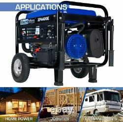 DuroMax 4,400-W 7HP Portable Gas Powered Electric Start Generator with Wheel Kit