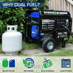 DuroMax XP10000EH Dual Fuel Portable Generator -Gas or Propane Powered New