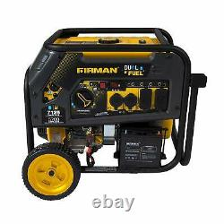 Firman 7,125-W 240V Portable Dual Fuel Gas Powered Generator with Electric Start