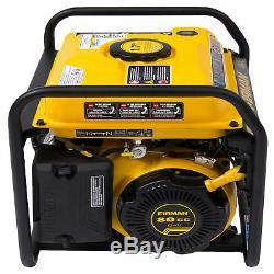 Firman P01202 1500 1200 Watt Gas Powered Extended Run Time Portable Generator