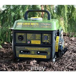 GAS POWERED PORTABLE GENERATOR 1000/900 WATT Oil Gas Mix Quiet Home RV Camping