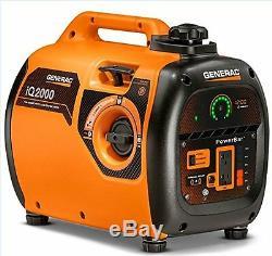 GENERAC 6866 iQ2000 Super Quiet 1600 Running Watts/2000 Starting Watts Gas Power