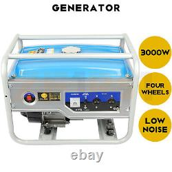 Gas Powered Portable Generator 3000W Hand Start 110 V Power Generation Machine