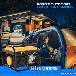 Gas Powered Portable Generator Engine For Jobsite RV Camping Standby 4000 Watt