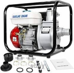 Gas Powered Water Pump Flood Irrigation 6.5 HP Portable Water Transfer 2 Inch
