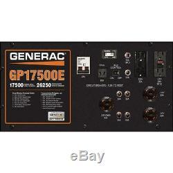 Generac 5735 GP17500E 17,500 Watt Electric Start Gas Powered Portable Generator