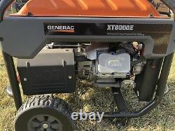 Generac 6433 XT8000E 8,000 Watt Portable Gas Power Electric Start Generator