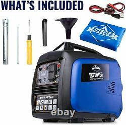 Hike Crew 2,250-W Super Quiet Portable Gas Powered Inverter Generator with Cover