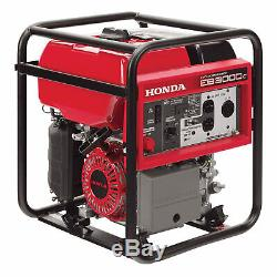 Honda 3,000 Watt Quiet GFCI Portable Gas Powered Backup Home Generator EB3000c