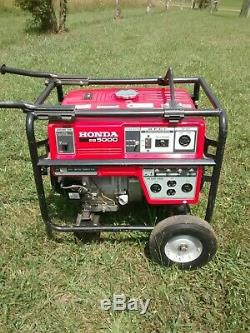 Honda 5,000 Watt Quiet GFCI Portable Gas Powered Backup Home Generator EB5000x