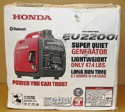 Honda EU2200i 2200-Watt Quiet Gas Power Portable Inverter Generator Bluetoot New
