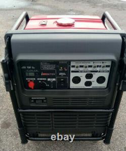 Honda EU5000i 5000 Watt Portable Quiet Inverter Gas Power Generator Low Hr