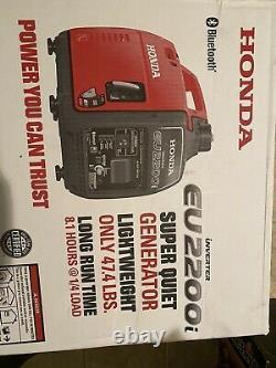 Honda Eu2200i 2200W Gas Powered Portable Inverter Generator Brand New