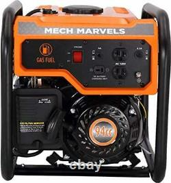 Mech Marvels 1,500-W Quiet Portable Gas Powered Generator Home Backup RV Camping