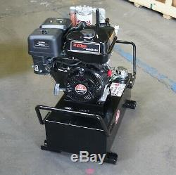 PHP Electric Start Gas Power Portable Hydraulic Pump System 10 gal 7gpm 1350psi