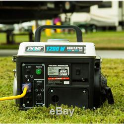 Portable Gas Generator RV Camping Power Small Quiet Gasoline 1,200/900W 72 cc