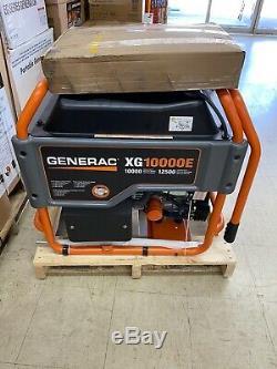 Portable Gas Power Generator Generac 5802 XG10000E 10,000 Watt Electric Start