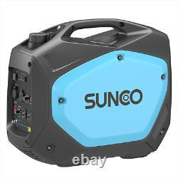 Portable Inverter Generator 2100W Peak 120V Gas-Powered Super Quiet Blue/Black