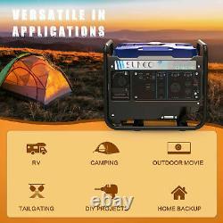 Portable Inverter Generator 3850W Peak 120V Gas-Powered Super Quiet Blue/Black
