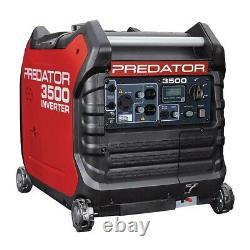 Predator 3,500-W Quiet Portable Gas Powered Inverter Generator with Electric Start