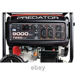 Predator 9000 Watt Max Starting Extra Long Life Gas Powered Generator EPA III