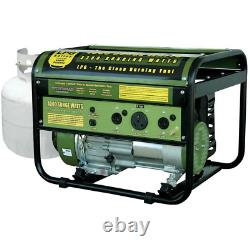 Propane Gas Powered Portable Generator Overload Protection Clean Burning LPG