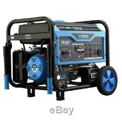 Pulsar 10,000-W 15-HP Portable Dual Fuel Gas Powered Generator with Electric Start