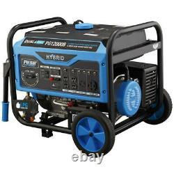 Pulsar 12000/9500-W Dual Gas/Propane Powered Electric Start Portable Generator