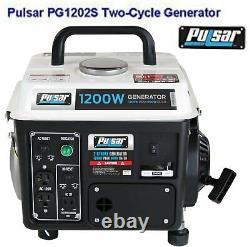 Pulsar 1200 watt generator Portable Home emergency backup generators gas powered