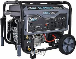 Pulsar 12,000-W Portable Hybrid Dual Fuel Gas Powered Electric Start Generator