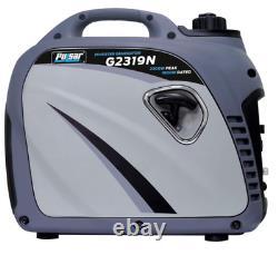 Pulsar 2300 peak watts/1800 running watts Portable Gas-Powered Quiet Inverter Ge