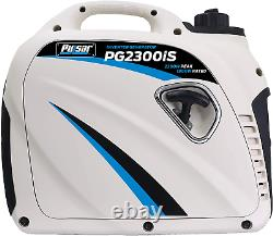 Pulsar Pg2300Is 2,300W Portable Gas-Powered Inverter Generator With Usb Outlet