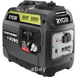 Ryobi 2000-W Super Quiet Portable Gas Powered Inverter Generator Home RV Camping